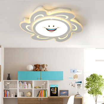 Simplicity ceiling lights modern acrylic protect eyesight kids room Children room 90~260V ceiling lamp LED lamparas de techo