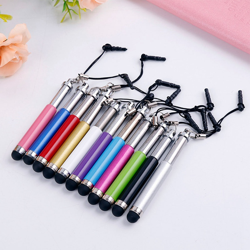 1pcs Three Links Retractable Capacitive Stylus Touch Screen Teblet Pen Diamond For iPhone iPad Tablet PC Mobile phone