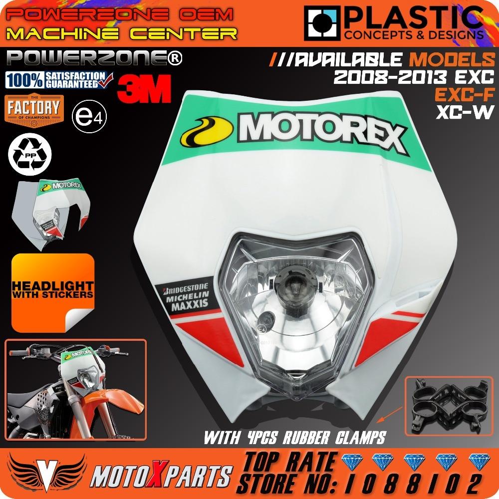 Motorcycle Headlights Headlamp With 3M Sticker For KTM  EXC EXCF SX SXF SXS XC XCR XCW XCF XCRF NXC MX SMR DUKE