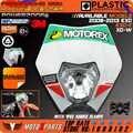 Phares de moto Phare Avec Autocollant 3m Pour KTM EXC EXCF SX SXF SXS XC XCR XCW XCF XCRF NXC MX SMR DUC