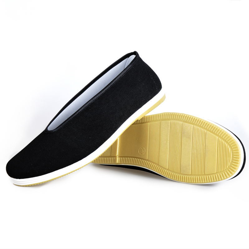 Chinese Kung Fu Shoes Bruce Lee Style Handmade Beijing Cloth Shoes Flats Men Black Boat Shoe Breathable Father Shoes Casual 2600mah dxman mobile power bank tube black yellow kung fu style