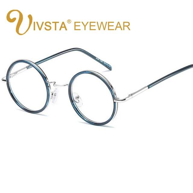 IVSTA Vintage Lunettes Rondes Hommes de Lunettes de Prescription Optique  Rose Couleur TR Métal Harry Potter be5708abefcc