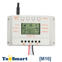 10A Solar MPPT Charge Controller Compatible PWM LCD Display 12V 24V Solar Panel Battery Regulator 250W Light and Timer Control