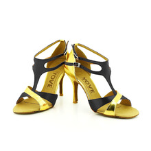 YOVE Dance Shoe Satin and PU Women's Latin/ Salsa Dance Shoes 3.5″ Slim High Heel More Color w124-16