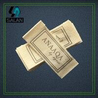 Заказные этикетки для одежды печатная хлопковая бирка Швейная ткань печатные хлопчатобумажные ярлычки на заказ детские бирки для одежды