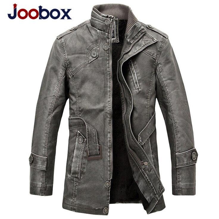 Joobox 2017 Winter Motorcycle Leather Jacket Men S