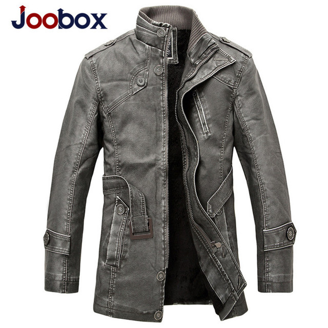 Joobox 2018 Winter Motorcycle Leather Jacket Men S Clothing New