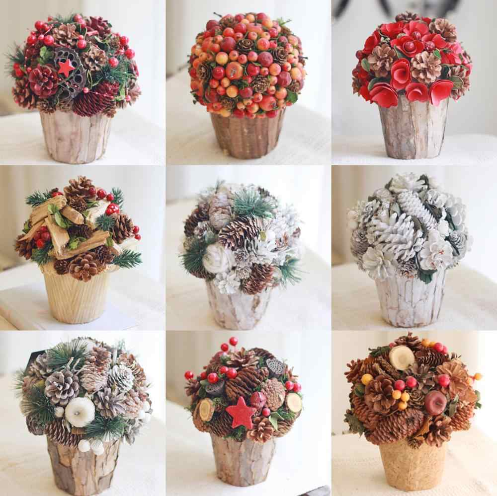 Christmas Decoration Flower Table Centerpiece Dried Florals Home Decor Preserved Flowers Handcrafted Flores Autumn Decoration Artificial Dried Flowers Aliexpress