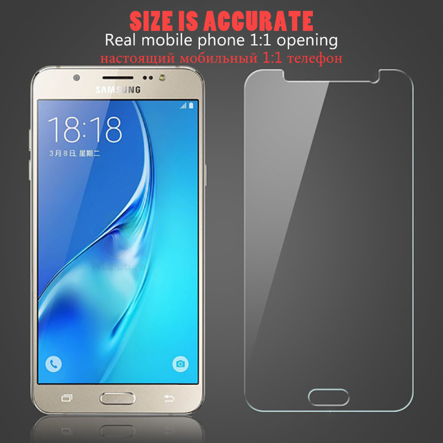 Protective Glass on the For Samsung Galaxy J3 J5 J7 A3 A5 A7 2015 2016 2017 A6 A8 Plus 2018 Tempered Screen Protector Glass Film 4