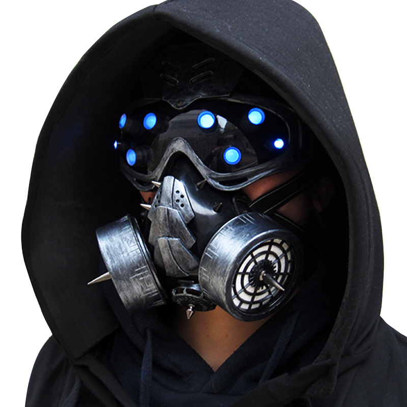 Costumes & Accessories Back To Search Resultsnovelty & Special Use Led Type!!!igacg Retro Punk Gas Mask And Goggles With Light Military Punk Respirator Cyber Punk Airsoft Mask Without Battery