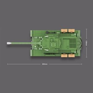 Image 5 - 1068 stücke Military IS 2M Heavy Tank Soldat Waffe Bausteine fit LegoING Technik WW2 Tank Ziegel Armee 100062 Kinder Spielzeug geschenke