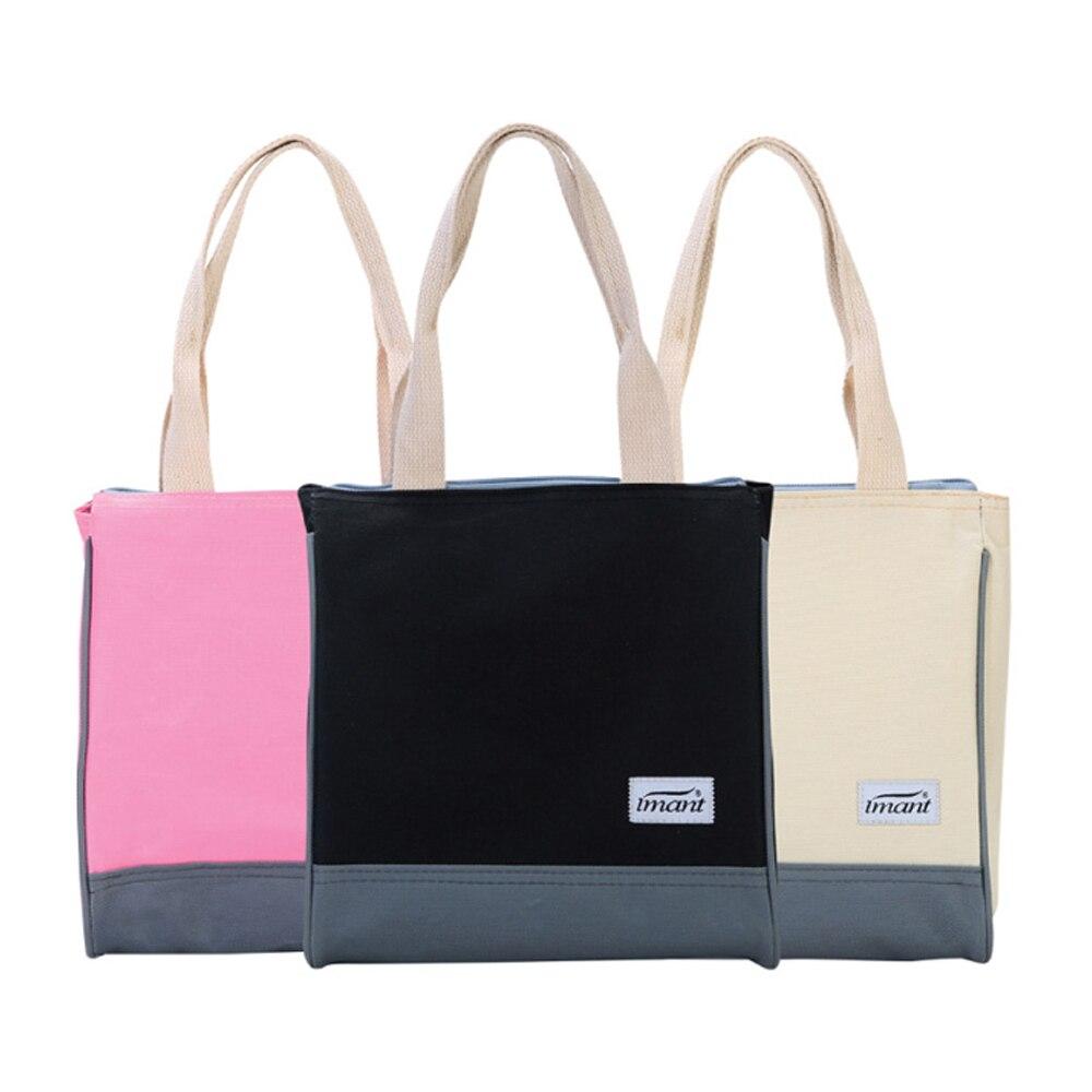 Oxford Aluminum Membrane Geisoleerde Lunchtas Met Rits Insulated Lunch Bag Waterproof Laptop Lunchbox Zipper Meal Men Women Tote