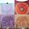 Indian Round Mandala Beach Throw Hippie Tapestry Yoga Mat Towel Bohemian Roundie