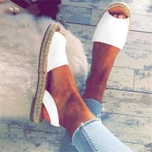 Fashion Womens Sandals Rome Flats Sandals 2019 Summer Shoes Women Slip-On Peep Toe Casual Shoes Low Heels Sandalias Mujer P25 недорго, оригинальная цена