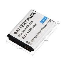 1pc 1200mAh BP-70A BP 70A BP70A Rechargeable Camera Battery For Samsung ES65 ES70 TL105 TL110 PL100 Camera SLB-70A Battery