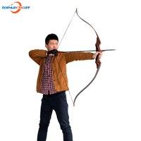 30 50lbs китайский снять изогнутый лук для Охота стрельба из лука практика спортивные игры традиционные деревянные демонтаж бант