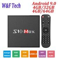S10 MAX 4GB 32GB Android 9.0 Smart TV BOX Amlogic S905X2 Quad Core Set Top Box Media Player Support 5G WIFI BT USB3.0 OTT BOX