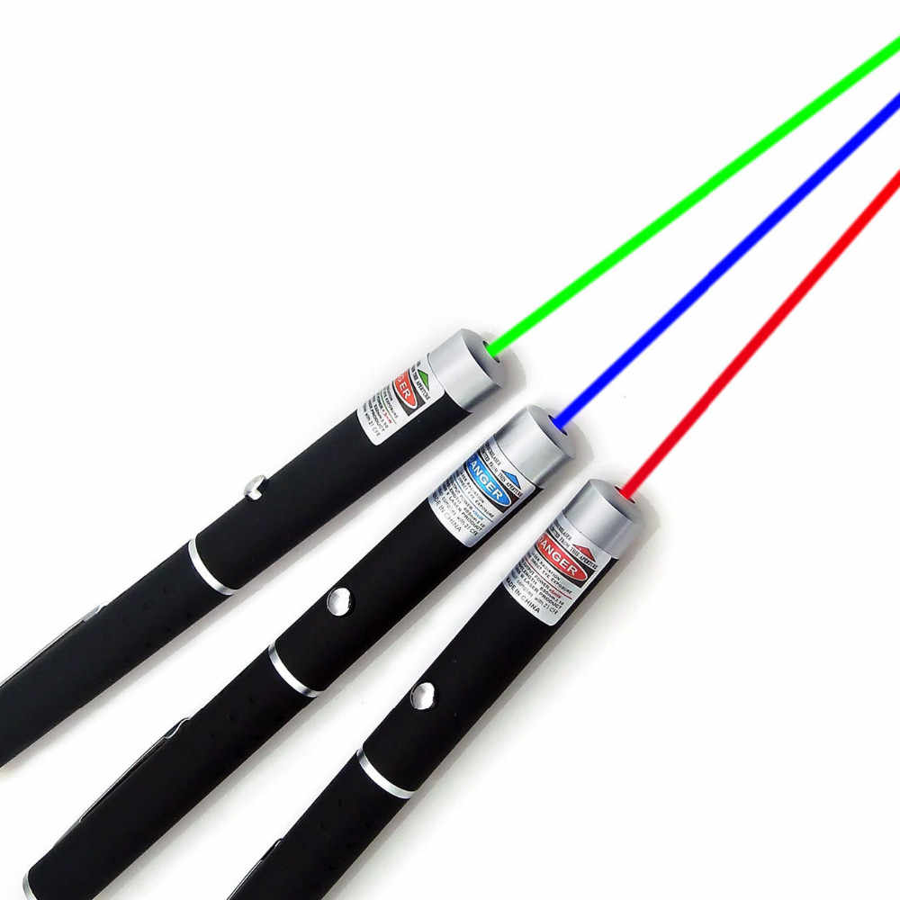 Green/Red/Blue Violet Laser Pen Laser Pointer Pen Visible Beam Light 5mW Professional High Power Portable