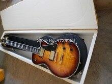 Freies verschiffen LP Kundenspezifische Elektrische Gitarren Vintage Sunburst Tiger Flamme Gitarre Körper keine fall 313 in Echt fotos