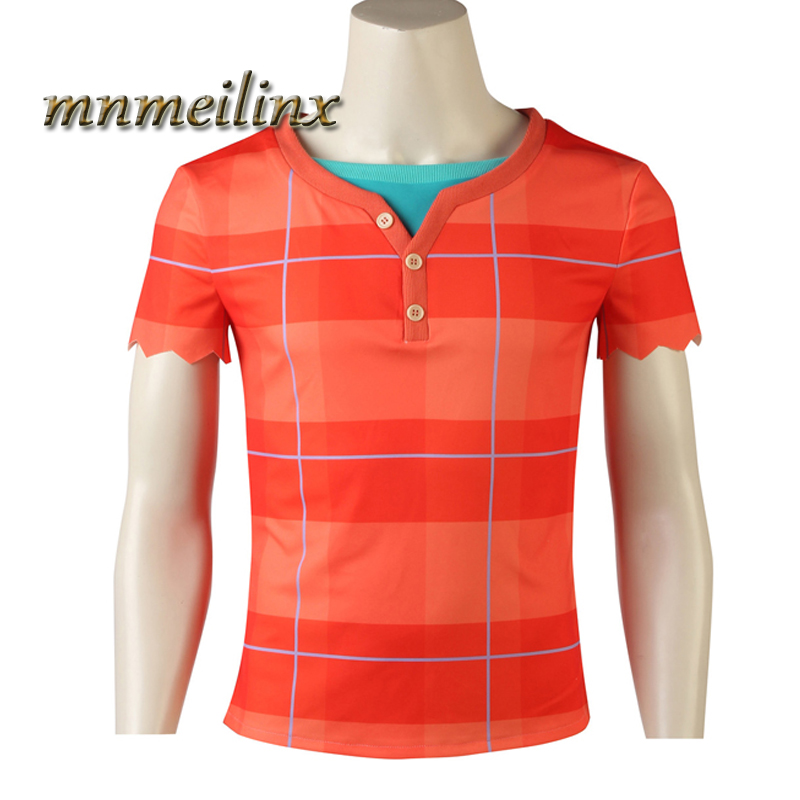 Hot Cakes Wreck-It Ralph 2 Cosplay Ralph Cosplay Costume Wreck-It Ralph Halloween Men's Shirt  Any Size Customize Free Shipping