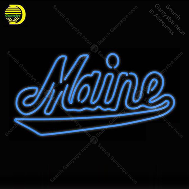 Neon Sign for Maine Black Bears Wordmark neon bulb Sign NCAA Neon lights Sign glass Tube Iconic Advertise Light Sports Bar Signs