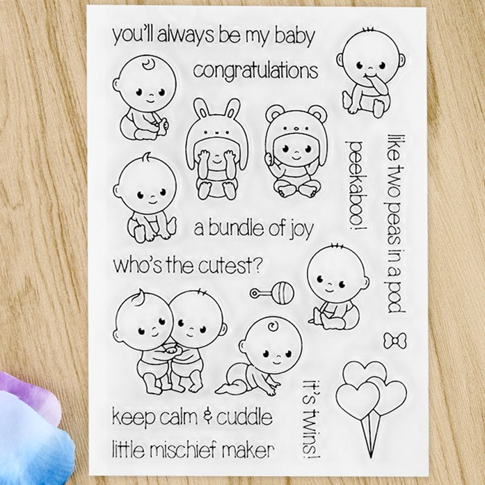 Celebrate the Newborn Transparent Clear Silicone Stamp/Seal for DIY scrapbooking/photo album Decorative clear stamp sheets A541 lovely animals and ballon design transparent clear silicone stamp for diy scrapbooking photo album clear stamp cl 278