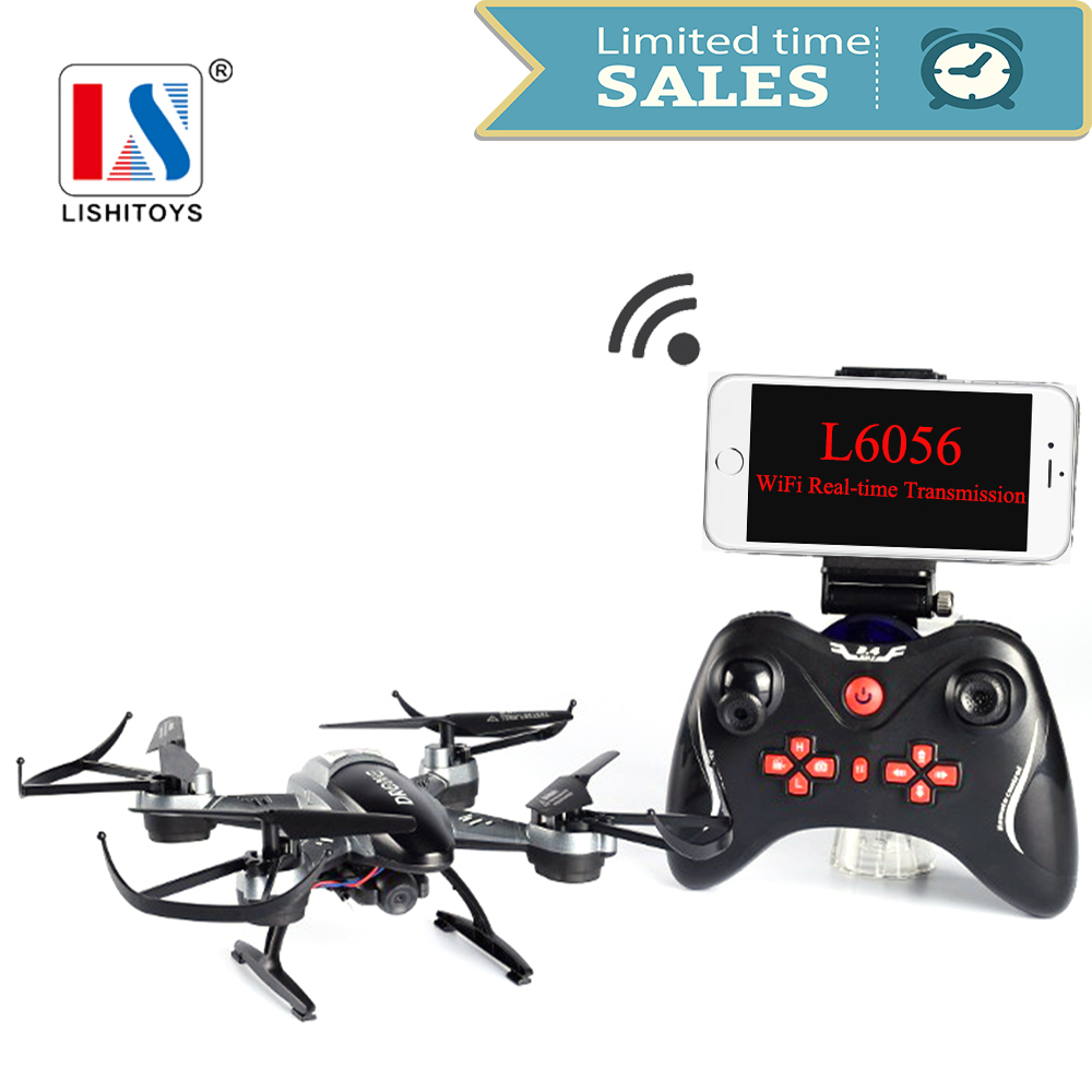 Lishitoys L6056 RC Drone Quadcopter with Wifi FPV HD Camera 2.0MP 2.4G Remote Control Airplanes RTF Toys for aduilt/kids радиоуправляемые вертолеты wl toys q222k wifi fpv rtf