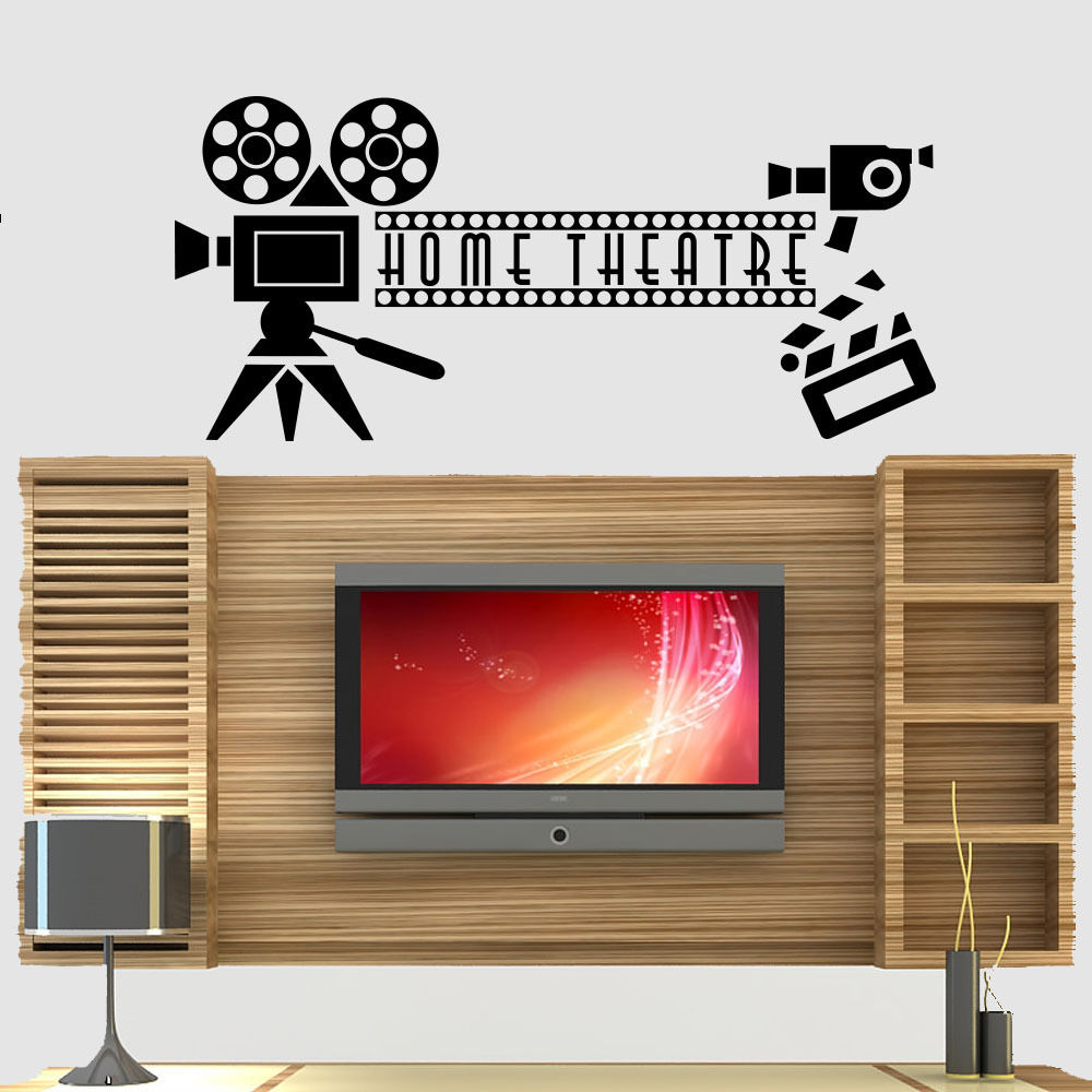 Home Bedroom Theater Cinema: Living Room Decor Home Cinema Theatre Quote Wall Stickers