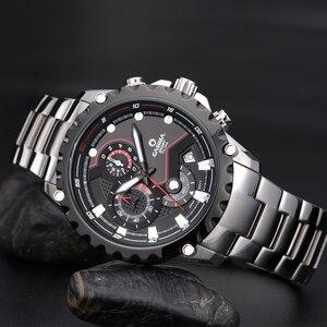 Image 4 - Relogio Masculino CASIMA Chronograph zegarek sportowy mężczyźni 100M wodoodporny urok Luminous wojskowy armia kwarcowy zegarek na rękę zegar Saat