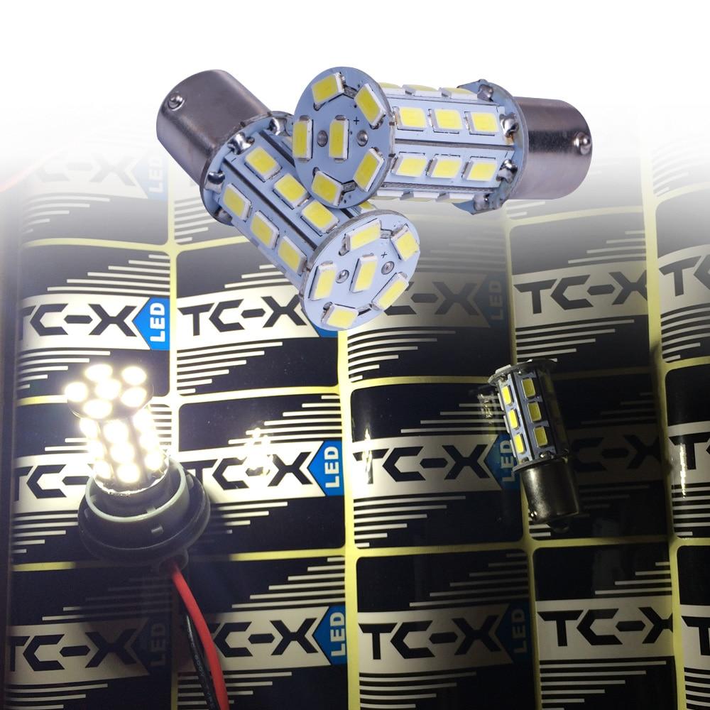 TC-X 2PCS Kereta Dipimpin Lampu Isyarat Lampu 1156 BA15s P21W - Lampu kereta - Foto 4