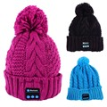 Soft Warm Beanie Hat Wireless Bluetooth Smart Cap Headphone Headset Speaker Mic