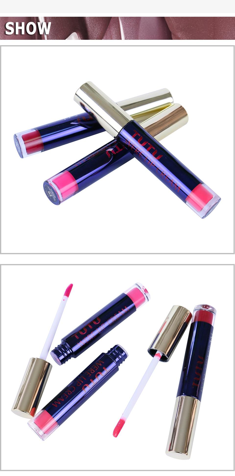 Professional Lip Makeup Matte Lip Gloss Velvet Red Lipstick Liquid Tint Waterproof Moisturizer Full Color Lip Gloss Set Make up 10