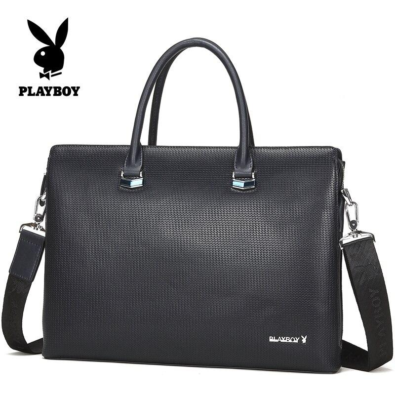 Best buy Lattice playboy leather briefcase for laptop business bags men s  briefcase portfolio male men s bag handbag online cheap 0e355088d81a7