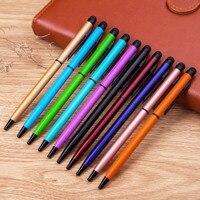 100pcs/set 2 in 1 touch pen multi functional pen Metal touch screen pen stylus