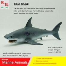 Chaude jouets Bleu Requin Simulation modèle Marine Animaux Mer Animaux enfants cadeau props éducatifs (Prionace glauca)