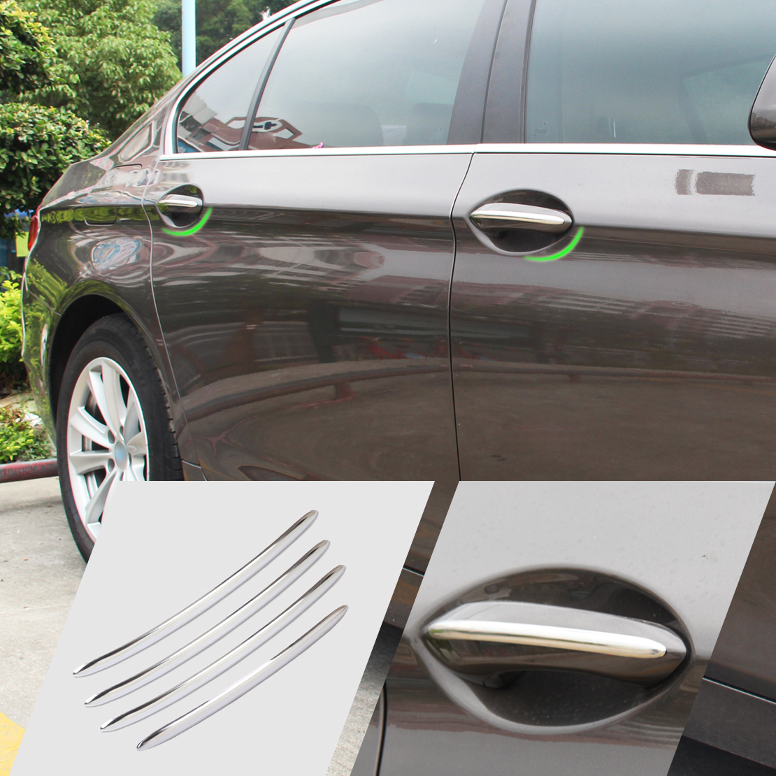 New Stainless Steel 4Pcs Exterior Door Handle Molding Trim Cover For BMW 5 Series F10 F18 & Online Buy Wholesale door handle bmw from China door handle bmw ... Pezcame.Com