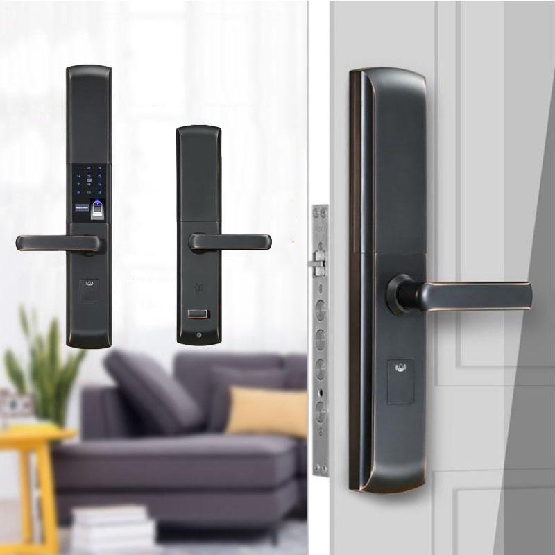 Smart Door Lock Semiconductor Fingerprint Lock Home Security Door Electronic Password / Card /APP / Multifunction Locks цена 2017