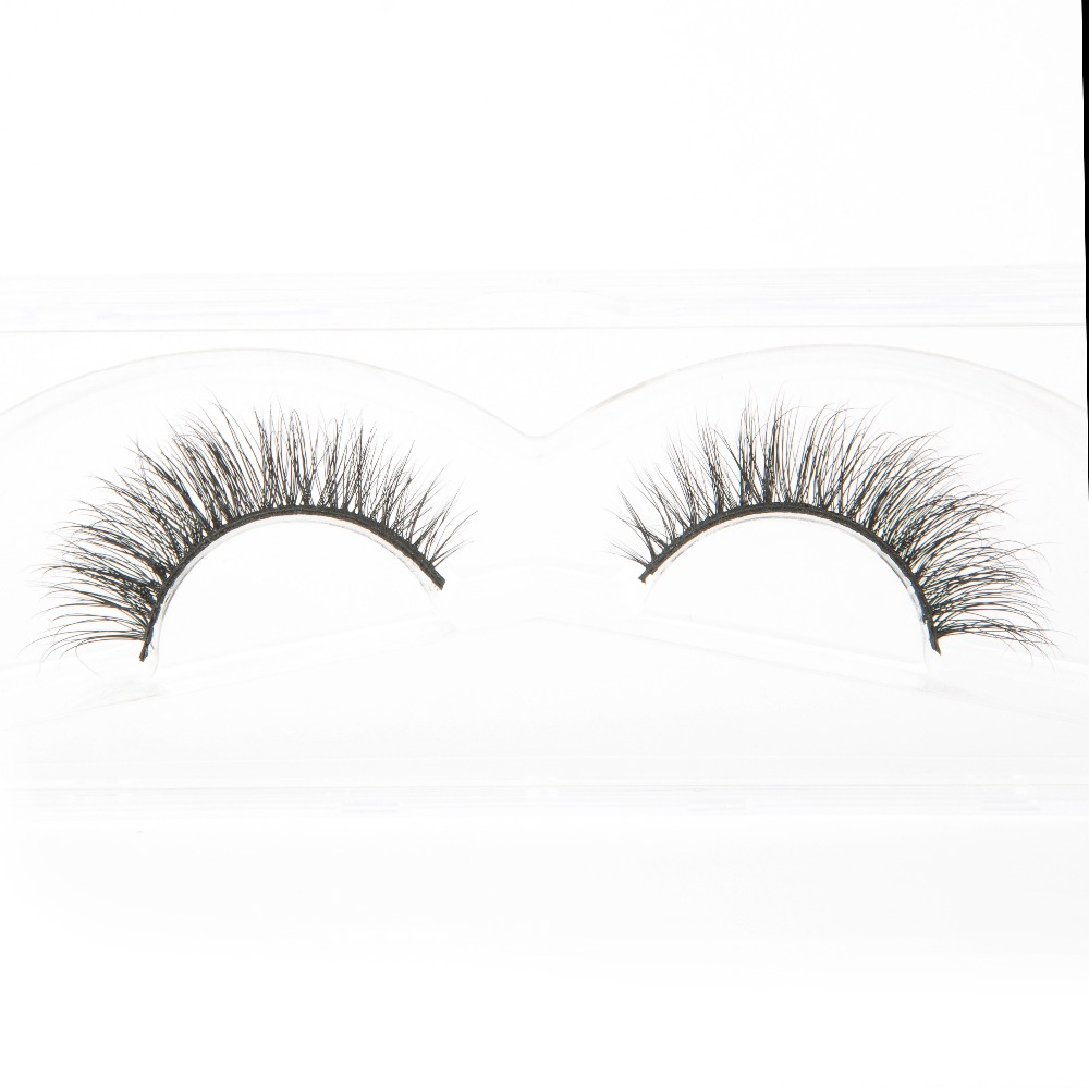 4932f2970e4 Hot selling custom packaging 1 pair tail winged siberian mink lashes L008 eyelash  extensions wholesale-in False Eyelashes from Beauty & Health on ...