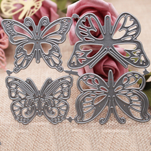 4pcs Butterfly 2019 New Metal Cutting Dies Mold  Decoration Scrapbook Paper Craft Knife Mould Blade Punch Stencils 11.2*8.8CM