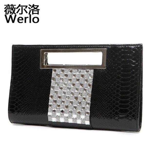1edceabfad57 WERLO Brand New Designer Women Bags Alligator Evening Bags For Formal Party  Dress Female Handbags Shoulder