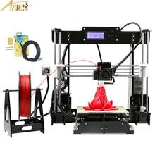 Обновление Анет A8 auto level A6 Desktop 3D принтер RepRap 3D-принтеры DIY Kit impressora 3D Автоматическое выравнивание Сенсор с 10 м нити