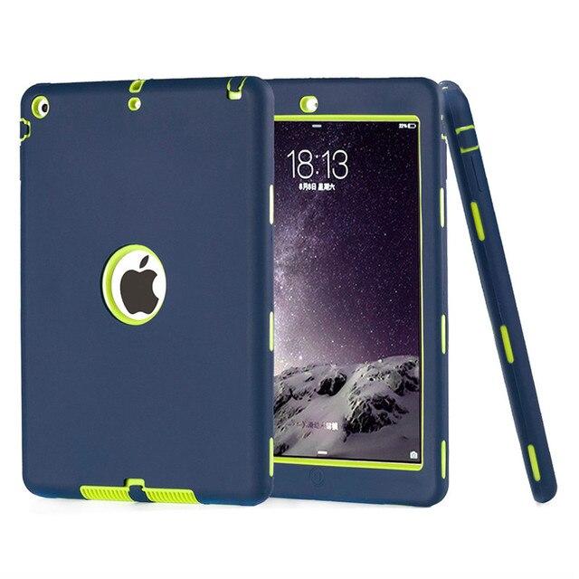 Чехол Для iPad Air 1 Дети Безопасный Противоударный Heavy Duty Броня 3in1 Гибридный Прочный Силиконовый Твердый Переплет Чехол Для Apple iPad 5 w/Stylus