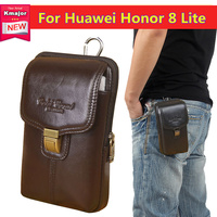 Luxury Genuine Leather Carry Belt Clip Pouch Waist Purse Case Cover For Huawei Honor 8 Lite