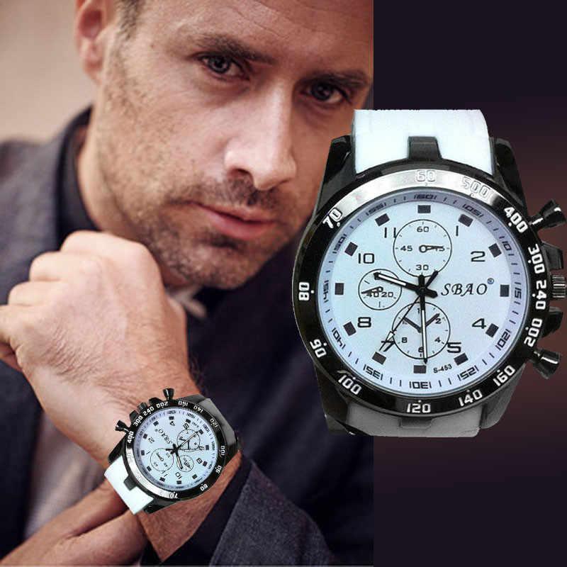 Mens ספורט שעונים Relogio Masculino 2018 מכירה לוהטת גברים סיליקון רצועת קוורץ שעונים Reloj S עמיד הלם אלקטרוני שעוני יד