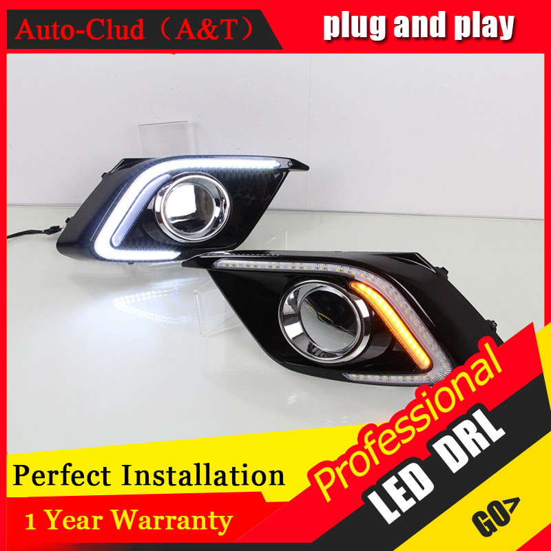 Auto Clud car styling For Mazda 3 Axela LED DRL For Mazda 3 Axela led fog lamps daytime running light High brightness guide LED front grille trims for mazda 3 axela