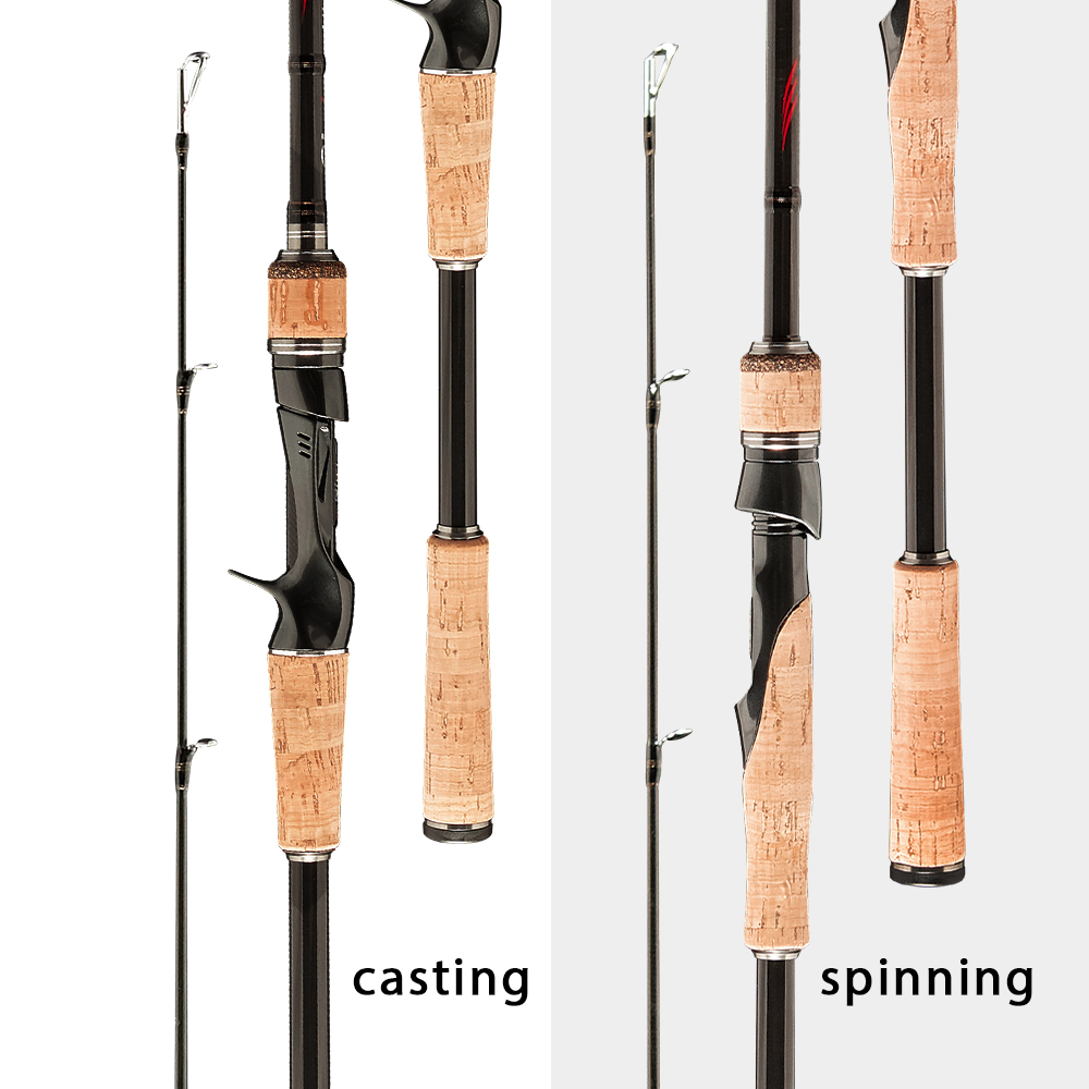 Obei HURRICANE 3 section Bait Casting Fishing Rod in Telescopic Design for Fast Casting and Clear Biting 1