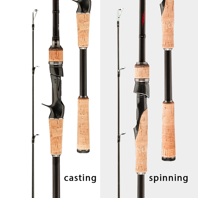 Obei HURRICANE 1.8m 2.1m 2.4m 2.7m 3 section baitcasting fishing rod travel ultra light casting spinning lure 5g-40g M/ML/MH Rod 2
