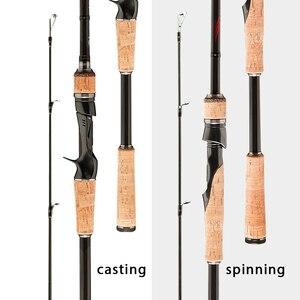 Image 2 - Obei HURRIKAN 1.8/2.1/2.4/2.7/3,0 m 3 Abschnitt Baitcasting Angelrute Reise Ultra Licht casting Spinning Köder 5g 40g M/ML/MH Stange