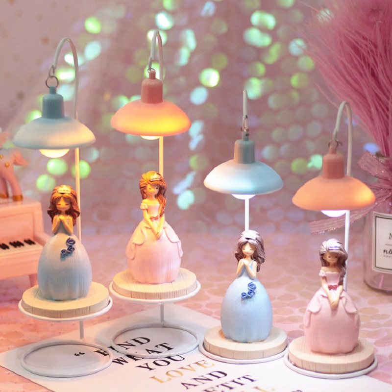 Cartoon Princess Night Lamp Battery Operated Resin Bedroom Bedside LED Lamp Gift Home Decorative Crafts Ornaments Cartoon Princess Night Lamp Battery Operated Resin Bedroom Bedside LED Lamp Gift Home Decorative Crafts Ornaments