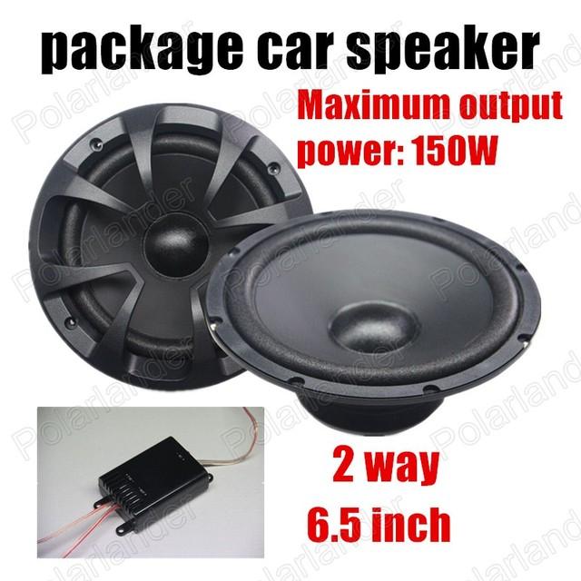 Envío libre 6.5 pulgadas de 2 vías 2x150 W coche paquete de altavoces de audio del coche altavoces estéreo para todos los coches venta caliente